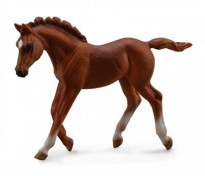 Breyer Horses Corral Pals Chestnut Thoroughbred Walking Foal #88670, Trotting