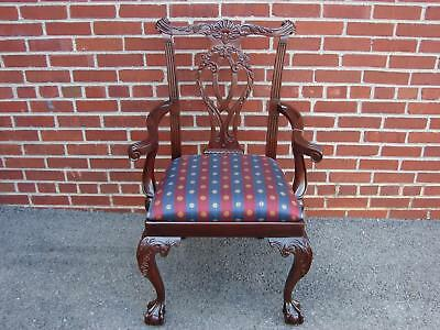 Nos Councill Craftsmen Mahogany Chippendale Chair #2 Henkel Harris Quality