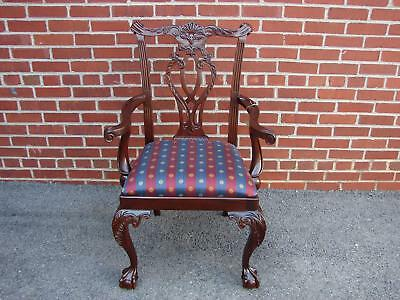 Nos Councill Craftsmen Mahogany Chippendale Arm Chair #1 Henkel Harris Quality
