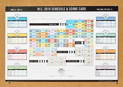 NOW ON SALE! 2018 World Cup Soccer Poster Calendar - Schedule & Score Card!