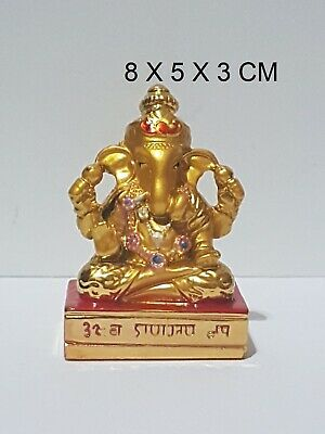 Ganesha Ganpati Ganesh Om Lord Hindu God Antique Colorful Idol Statue New Small