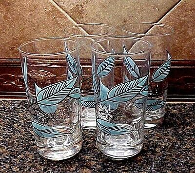 "Vintage Biscayne by Salem Water Barware Glasses Tumblers 5 5/8""  Set of Four (4)"