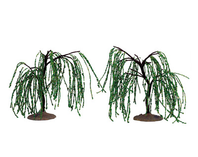 Lemax 14591 Weeping Willow S 2 trees Model Railways Villages Scenery NEW Retired