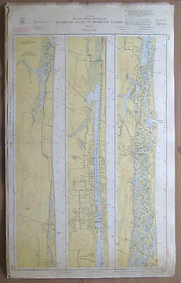 "Vtg 1951 C&GS Nautical CHART #843 INTRACOASTAL WATERWAY FL 24"" x 39"""