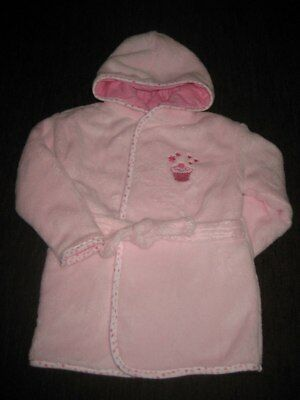 Girls' Pink Gown Bath Robe with Lining 18-24 Months 86cm New no Tags