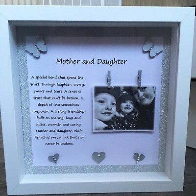 MOTHER AND DAUGHTER Photo Frame Gift Poem Photo Frame Box Frame ...
