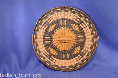 Antique Hopi Wicker Basket Third Mesa c.1930 10""
