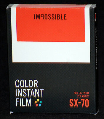 Impossible Project PRD4512 Color Instant Film for Polaroid SX-70 Cameras, 8 Pack