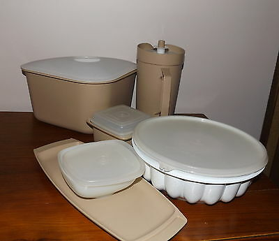 Collection Vintage Tupperware Fridge Jug Jelly Mould Dip Dish Sink All in One