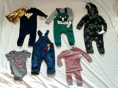 NWT NEW Infant Boys Clothing Lot 6-9 MOS Cat and Jack, Burts Bees sets