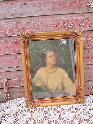 Vintage Antique Wood ornate  Picture Frame For a Boy or Child David Religious