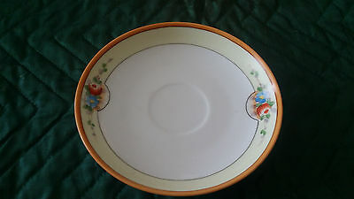 Hand Painted Meito China Saucer Made in Japan Vintage with Floral Design.