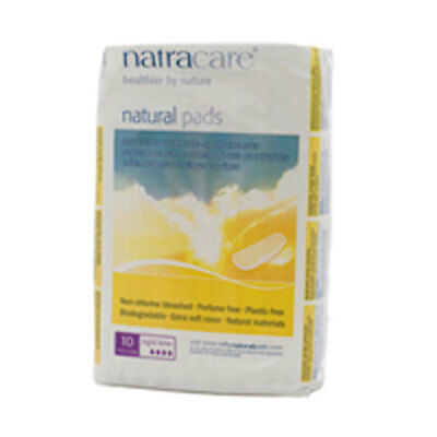 Night-Time/Overnight Pads 10 CT EA by Natracare