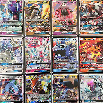 100 Pokemon Cards Premium Pack - with GUARANTEED GX +11 Rare & Rev Holos Cards!