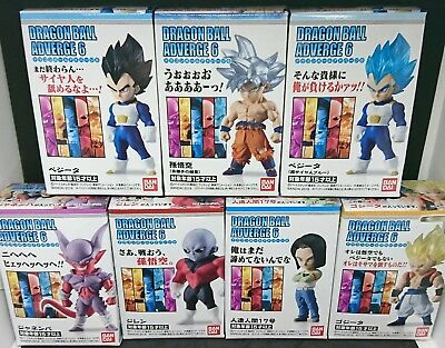 BANDAI DRAGON BALL Z Super ADVERGE 6 Mini Figure All 7 sets NEW F/S Japan import
