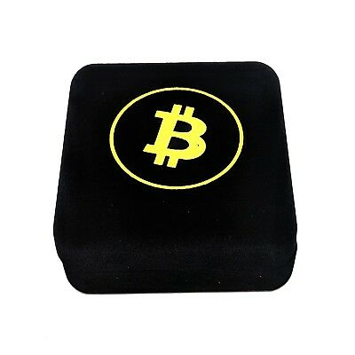 Bitcoin in Gift Box Gold Plated Collectible Coin Art Collection Gift Physical