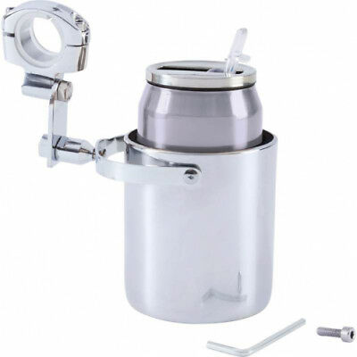 Diamond Plate  Stainless Steel Motorcycle Cup Holder and Vacuum  SS CUP HLD WITH