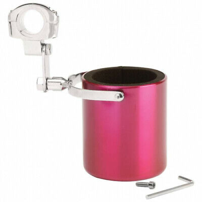 Diamond Plate  Pink Stainless Steel Motorcycle Cup Holder PINK SS MOTORCYCLE CUP