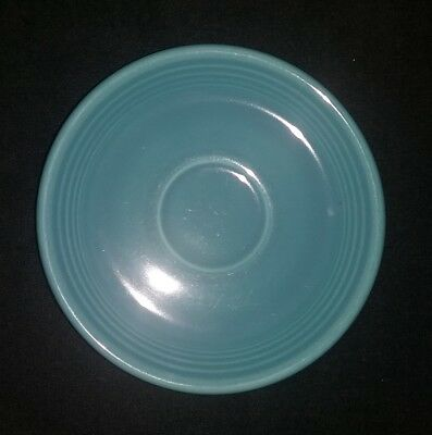 """Old Vintage Fiesta Turquoise Saucer Cup Plate 6"""" Homer Laughlin Hlc Fiestaware"""