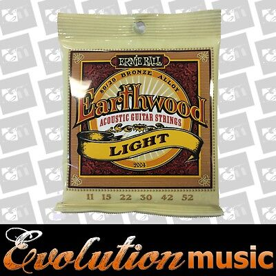 Ernie Ball 2004 Earthwood 80/20 11-52 Light Acoustic Gtr Strings