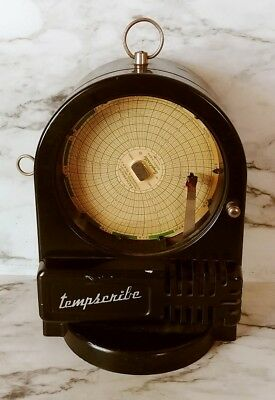 Vintage Bacharach Tempscribe 24 Hour Movement Temperature Chart Recorder #SS8