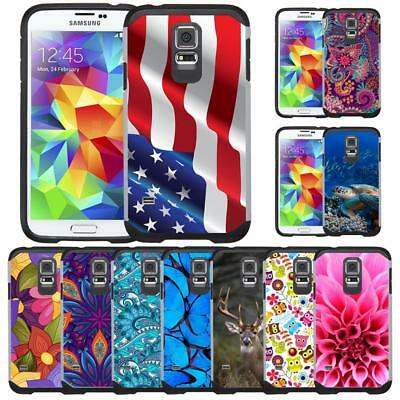 Slim Hybrid Armor Case Protective Cover for Samsung Galaxy S5