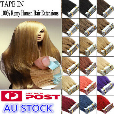 """16""""Seamless 20pcs PU Skin Weft Tape in 100% Remy Human Hair Extensions AU Stock"""