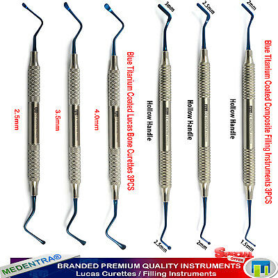 MEDENTRA® X6 Dental Composite Plastic Filling Instrument Surgical Lucas Curettes