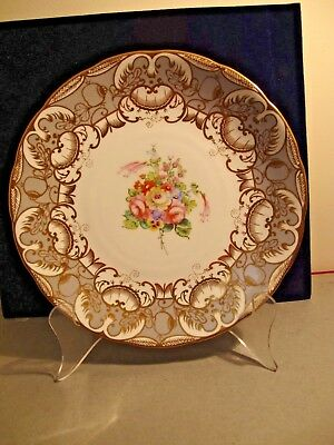 Hand Painted  Plate  Made For T.goode Store -  London - Most Likely Coalport
