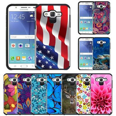 Slim Hybrid Armor Case Dual Layer Protective Cover for Samsung Galaxy J7 (2015)