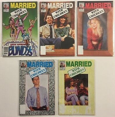 Married With Children #s 1, 2, 3, 4, 5 Run Lot (Kelly Bundy) - NOW Comics 1990