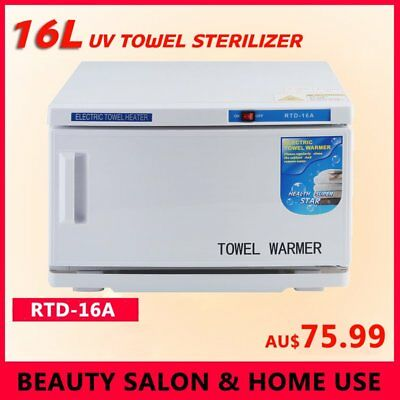 16L UV Towel Tool Sterilizer Warmer Cabinet Spa Facial Disinfection Salon Beauty