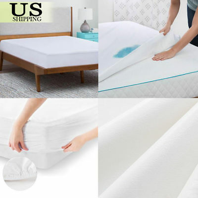 California King Mattress Protector Waterproof Terry Towel Extra Fitted Bed Cover