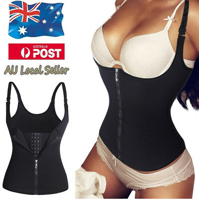 AU New Waist Trainer Vest Workout Cincher Body Slimmer Shaper For Weight Loss LM