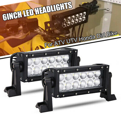 "6""Inch Led Fog Light 36W w/ Handlebar Mount Brackets for ATV UTV Honda Dirt Bike"
