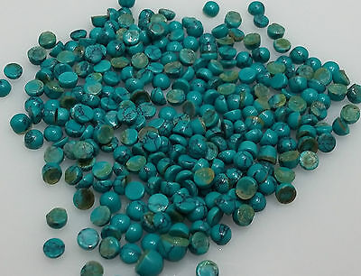 3mm Loose Turquoise Cabochon Round 10cts 80pc Lot For Setting Opaque