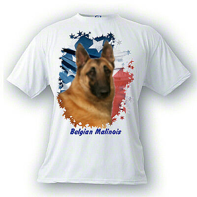 Belgian Malinios # 2 Stars & Stripes  Custom  PERSONALIZED  Pet  T shirt