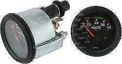 Voltmeter 24 Volt 52mm Black Bezel  Van Truck Bus Boat Analogue Volt Meter