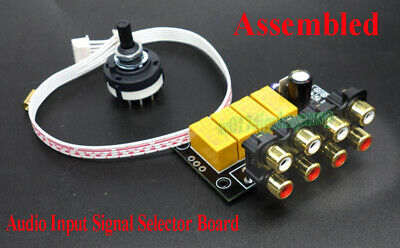 Douk Audio 4-channel Stereo Audio Signal Input Selection Relay Switching Board