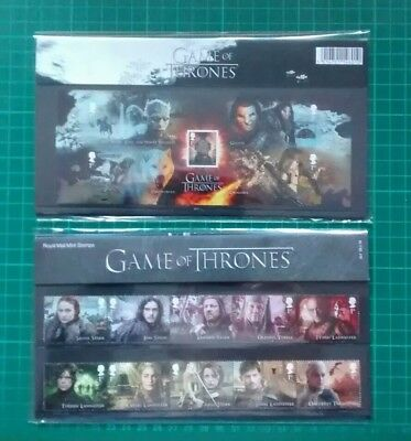2018 Royal Mail stamps Presentation Pack Game of Thrones 23 .1.18 Pack 531
