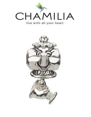 rare genuine CHAMILIA 925 sterling silver MRS POTTS & CHIP charm bead