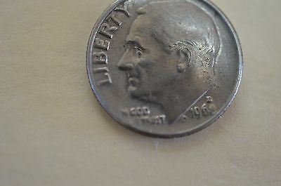 1968 USA DIME  (The 8 in 1968 is worn)