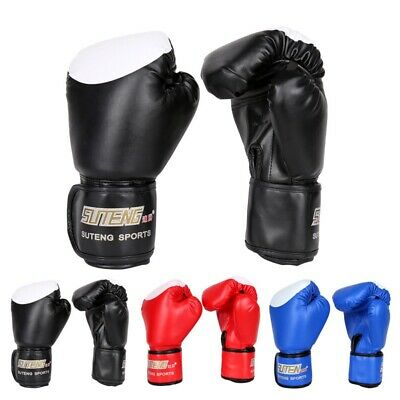 Adult Boxing Gloves PU Leather Unisex Women/Men Sanda MMA Muay Thai Karate Mitts