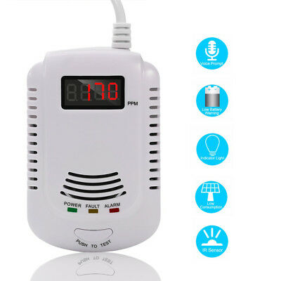 LCD Combustible Natural Gas Carbon Monoxide Detector Poisoning Gas Warning Alarm