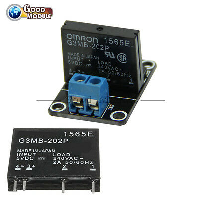 SSR G3MB-202P 5V 1 Channel OMRON Solid State Relay with Resistive Fuse Module