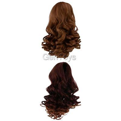 2pcs/set Simulation Scalp Wig Wavy Curly Hair for 18 inch American Girl Doll