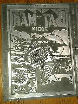 BATMAN Comic book printing plate