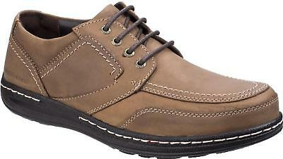Hush Puppies VOLLEY VICTORY Mens Lace Up Comfy Moccasin Casual Shoes Brown