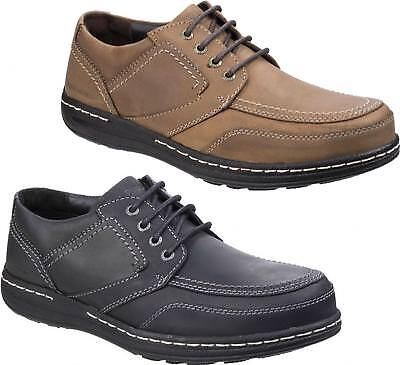 Hush Puppies VOLLEY VICTORY Mens Lace Up Leather Comfy Moccasin Casual Shoes