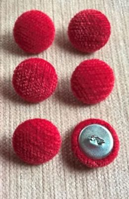 Chenille Velvet 45L//28mm Cream Upholstery Fabric Covered Buttons Craft Sewing